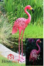 80 cm Metal Pink Silhouette Solar Garden Pond Flamingo Party Ornament Decoration