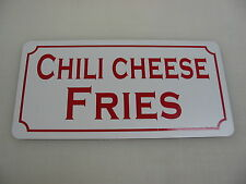 """CHILI CHEESE FRIES Metal Signs 6""""x12"""" Food & Beverage Vintage Design Concession"""