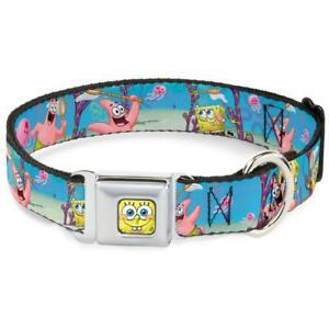 Buckle Down Seatbelt Dog Collar Spongebob Squarepants WSQ003-S USA NEW Small