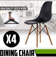 Lot de 4 chaises design tendance rétro eiffel bois chaise de salle à manger Noir