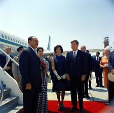 President and Mrs. John F. Kennedy at arrival Pakistan President New 8x10 Photo