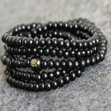Hot 6 mm Sandal 216 black Tibetan Buddhist prayer beads bracelet