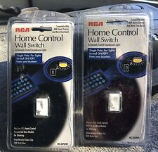 3 RCA HOME CONTROL Wall Switches Single Pole White NEW