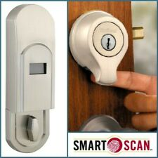 Weiser Smartscan Fingerprint Scanning Biometric Door Deadbolt Lock, Satin Nickel