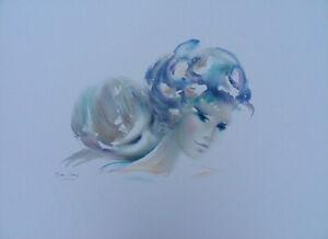 SHAN MERRY :  le baiser dans le cou - LITHOGRAPHIE originale signée, 350ex