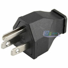 Premium AC 15A 125V  3 Pin Male Power Cord Connector US Plug Converter Black