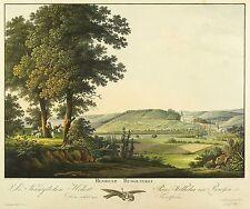 Rudolstadt-Veduta generale-HAMMER-KOLOR. contorno acquaforte 1810