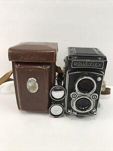 Rolleiflex synchro compur Heidosmat camera Zeiss 1:3,5 75mm Franke Heidecke