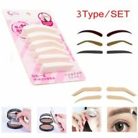 Makeup Fashion Beauty Tool Eyebrow Sponge Stamp Template Brow Stencils Model
