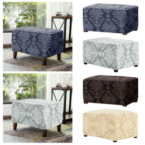 Soft Storage Stools Cover Elastic Footstool Slipcover Floral Furniture Protector