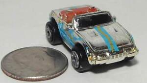 Small Micro Machine Ferrari Daytona Spyder Convertible/Silver (Color) Blue Trim
