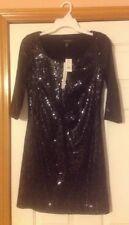 White House Black Market Black Sequined Dress Size Xs