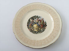 """Homer Laughlin HLC1022 Colonial Couple Martha George - 10"""" DINNER PLATE"""