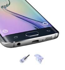 5x Micro-USB + Jack Anti-Dust Plug Clear for Samsung Galaxy S5 S6 S7 J5 J7 A10