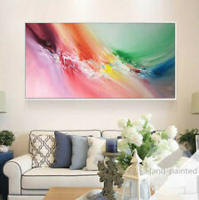 "YA271 Hand-painted Abstract oil painting on canvas polar light Unframed 48"""