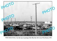 OLD 8x6 PHOTO WEST BEACH BLUE LINE DRIVE-IN 1954 ADELAIDE SOUTH AUSTRALIA