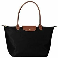Longchamp Le Pliage navy black tote bag size L