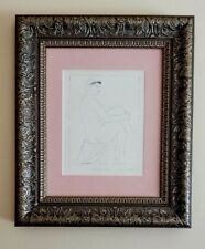 PABLO PICASSO ORIGINAL 1954 BEAUTIFUL GRAVURE NOT SIGNED MATTED AT 11X14