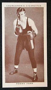 British & Empire Heavyweight Champion Boxer  Tommy Farr  Original Vintage Card