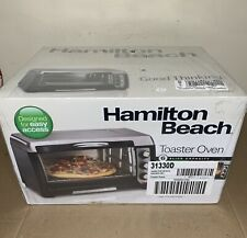 HAMILTON BEACH TOASTER OVEN TOASTS, BAKE, AND BROIL FITS 12 IN PIZZA NEW