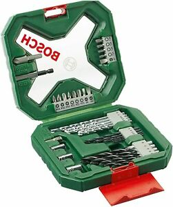 Bosch 34 Piece X-Line Drill and Screwdriver Bit Set (For Wood, Masonry, and Meta