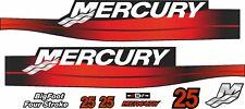 Mercury 25 Hors Bord Quatre Temps Bigfoot Motor Autocollants Autocollant Kit Moteur