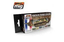 AMMO OF MIG A.MIG-7110 Acrylic Paint Set (6 jars) IWW & IIWW French Camo Colors