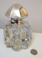"Huge Antique Gorham Sterling Silver Glass Inkwell 6"""