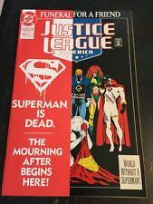 Justice League America#70 Incredible Condition 9.4(1991)Superman Death, Insert