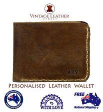 Personlised Mens Leather Wallet Monogram Leather Wallet Personlised Mens Gift AU