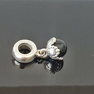 Pandora Black Onyx Drop Sterling Silver Ball Dangle Charm 790379O Free Post