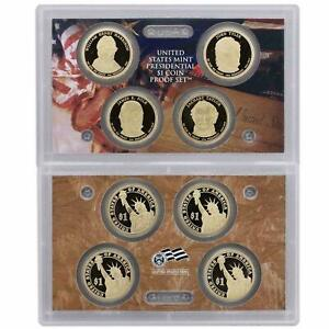 2009 S Presidential Dollar Proof Set 4 Coin United States Coins Set No Box / COA