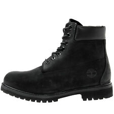 "Timberland 6"" Premium Mens 10073 Black Nubuck Waterproof Boots Shoes Size 12"