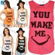 Unbranded Polyester Sleeveless T-Shirts Slogan for Women