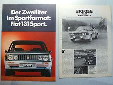 Prospekt Fiat 131 Sport, 6.1978, 4 Seiten + Betti Poster aus Auto Zeitung