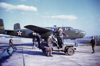 American bomber B-25 Mitchell before departure from  War Photo 4x6 inch M