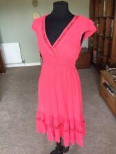Pink Vintage Ghost Peasant Style Tea Dress