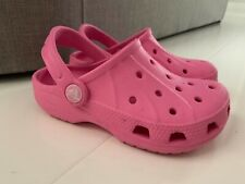 CROCS CLASSIC GIRLS LIGHT SHOES WITH BACK STRAP - UK 10 - 11