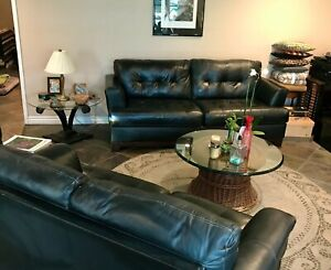 Ashley Furniture Sofa and Loveseat Living Room Black Leather LOCAL PICKUP ONLY