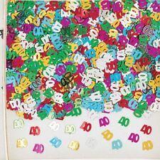 14g Multicolore metalique 40 40th Anniversaire Confettis Table dispersion