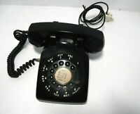 Vintage Black Phone Western Electric Rotary Dial Desk Telephone 500 Tested Works