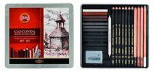 DRAWING Art Set For Artist Sketching Toning KOH-I-NOOR GIOCONDA 8899 8893