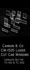 Cannon & Company TC-1505 HO Laser Cut Windows for 1501 & 1502     MODELRRSUPPLY