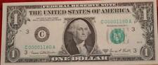 Uncirculated 1969 U.S. $1 Very Low Serial Number Note