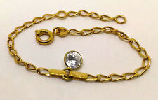 VERGOLDET + ECHT GOLD 🌼  Zirkonia Armband 12 - 14 cm
