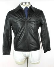NWT MISSANI LE COLLEZIONI Black Turkish Lambskin Leather Jacket Coat M Short