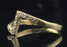14k Yellow Gold CZ Band Size 7 Ring
