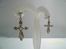 Diamante Vintage Costume Jewellery Earrings