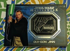 Qui-Gon Jinn Star Wars Masterwork Medallion Battle of Naboo 19/99 SSP Mint!!