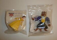 Lot of 2 Beauty and the Beast vtg Burger Kings Kids Meal Toys Figures Disney new